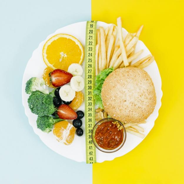 top-view-healthy-food-vs-unhealthy-food_23-2148194603